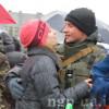 Під проливним дощем хмельничани зустрічали військових з зони АТО