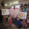 Дети-переселенцы передали подарок в госпиталь