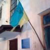 На сільській раді Дунаєвецького району висить обшарпаний Прапор України