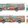 """У Хмельницькому """"Республіка"""" розмалює тролейбус не лише ззовні, а й в салоні"""