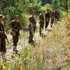 У Нацгвардії показали, як солдати розшукують ватажка засуджених, що втік під час етапування