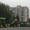 Трактори аграріїв зробили фурор у центрі Хмельницького