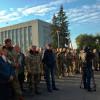 У Ярмолинцях учасники АТО мітингували проти т.в.о. голови РДА