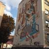 """Фестиваль """"Республіка"""" відзначився у Хмельницькому новим графіті на багатоповерхівці"""