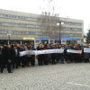 Кам'янець-Подільську міськраду пікетують понад 200 викладачів та студентів ПТУ