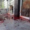 У Хмельницькому Правий сектор облив кров'ю Сбербанк Росії