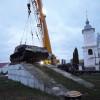 В Ізяславі демонтували з постаменту самохідну артилерійську установку ІСУ-152