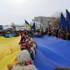 """На межі Хмельницької і Тернопільської областей люди утворили """"Ланцюг єдності"""" (Додано)"""