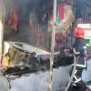 """Внаслідок пожежі хмельницького ринку """"Дарсон"""" згоріли два кіоска, пошкоджено – 4"""