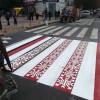 У центрі Хмельницького комунальники зробили креативну дорожню розмітку