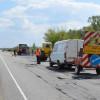 На дорогах держзначення Хмельниччини ліквідовано 23 тис. м тріщин та усунено ямковості на 1075,8 км