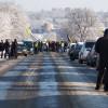 На дорогах Хмельниччини протестують власники єврономерів. Як можна об'їхати заблоковані автошляхи