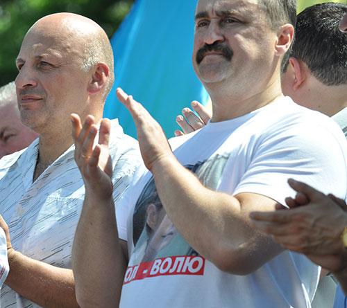 Олександр Ксенжук і Василь Кравчук. Фото Віталія Тараненка