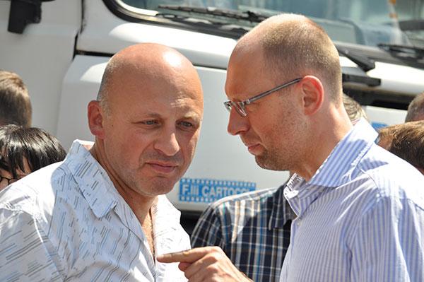 Олександр Ксенжук і Арсеній Яценюк. Фото Віталія Тараненка