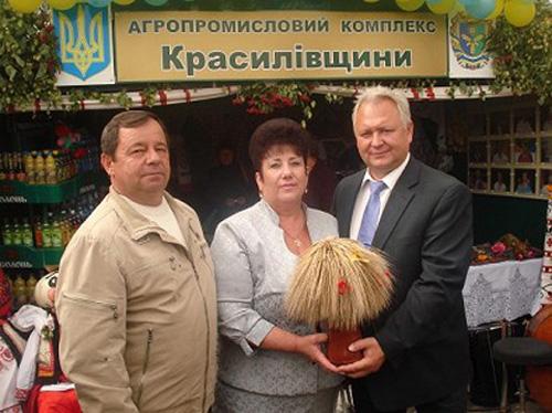 Зліва направо: Василь Ходак і Петро Арсенюк. Фото з сайту Красилівської райдержадміністрації