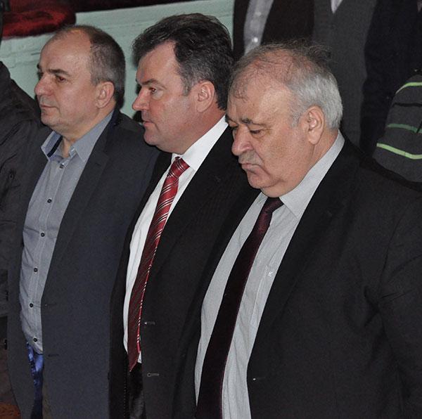 Група підтримки (зліва направо): Іван Гладуняк, Сергій Мельник, Олег Лукашук. Фото Віталія Тараненка