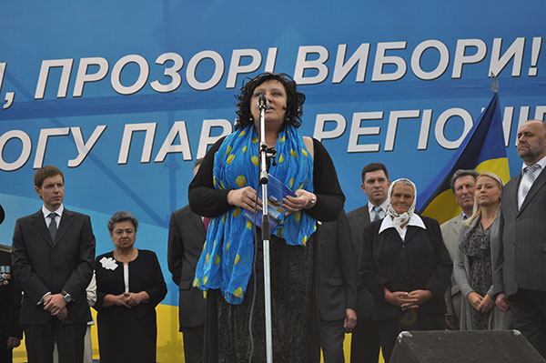 Кандидат у народні депутати від Партії регіонів Ірина Трунова