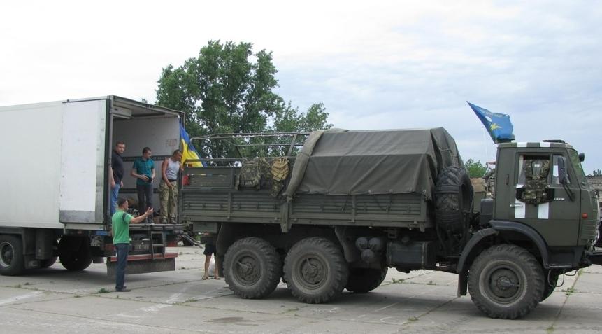26 тонн допомоги для наших хлопців