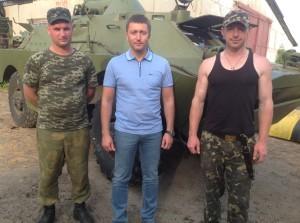 Сергій Лабазюк (по середині) з військовими