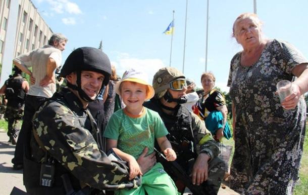 Українські військові звільнили Слов'янськ. Фото ua.korrespondent.net
