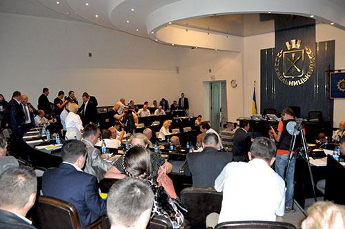 Сесійна зала Хмельницької міської ради. Фото Віталія Тараненка