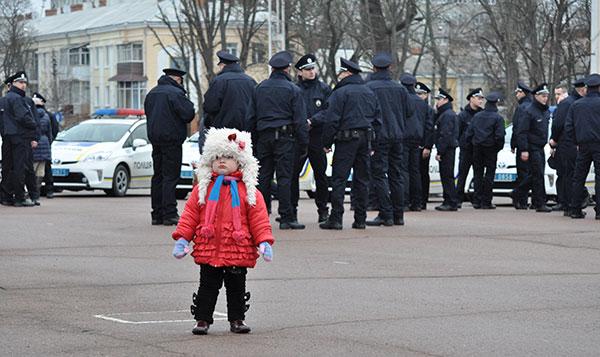 Нова патрульна поліція склала присягу уХмельницькому