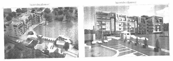 Перспективні зображення із технічного паспорту будівництва по вул. Нижня Берегова, 2/4Б