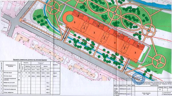 Генплан будівництва СК «City»