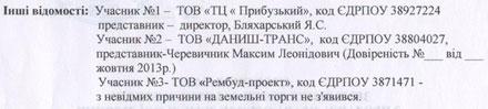 Скрін-шоти протоколу земельних торгів у формі аукціону від 29.10.2013 р № 04/23