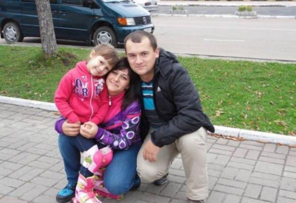 Олександр Петраківський з сім'єю