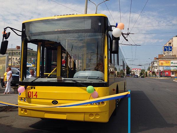 """Тролейбус """"Богдан"""" у Хмельницькому. Фото НГП"""