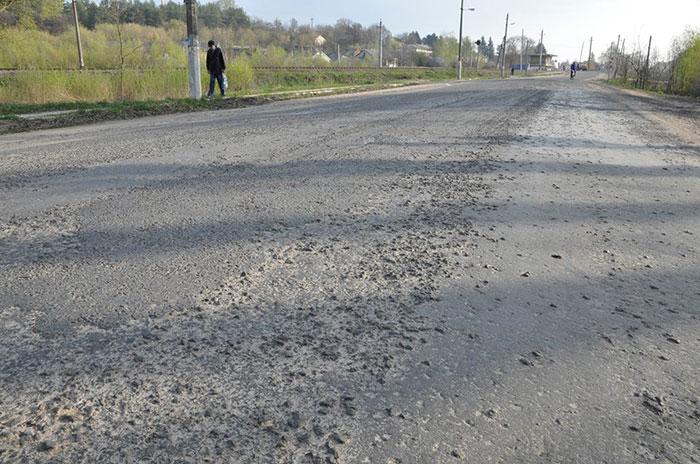 Теперішній стан дороги у Білогір'ї. Фото НГП