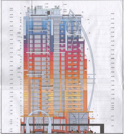 Фасад будівлі із містобудівного розрахунку ПМП «Фінмаркет»