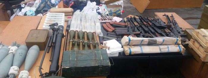 Вилучена зброя у Рубана співробітниками СБУ