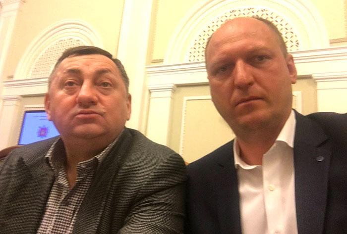 """Олександр Герега і Вадим Лозовий (зліва направо). Фото з """"Фейсбуку"""" Лозового."""