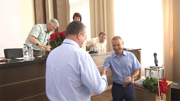 Екс-суддя Марцинкевич вітає з обранням нового голови суду  Сергія Болотіна